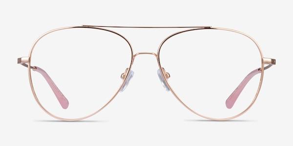 Aesthetic Rose Gold Metal Eyeglass Frames