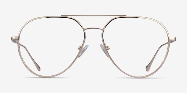 Telescope Light Gold Metal Eyeglass Frames