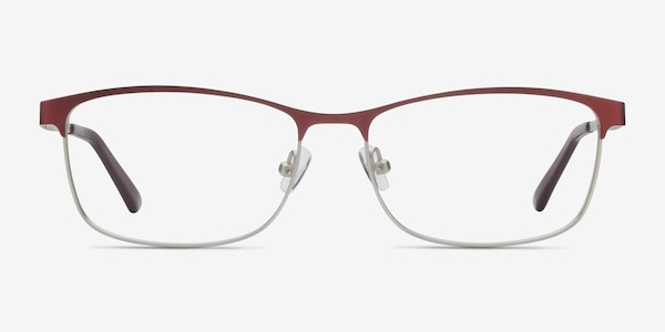 Ashlyn Red Metal Eyeglass Frames