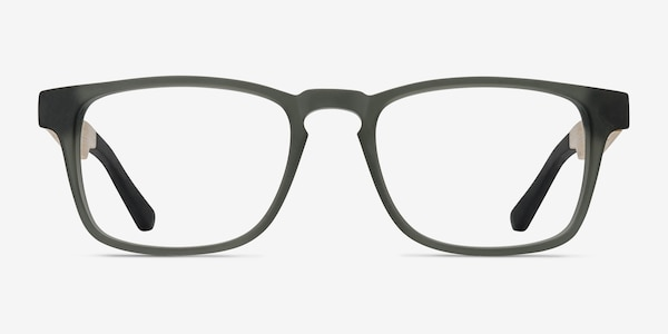 Lincoln Gray Wood-texture Eyeglass Frames
