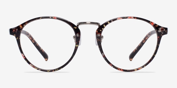 Chillax Red/Floral Plastic Eyeglass Frames
