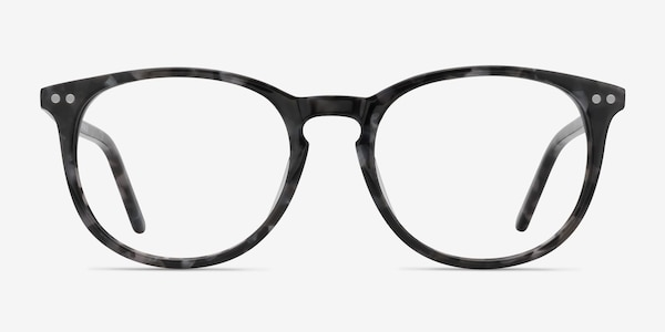 Fiction Gray/Floral Acetate Eyeglass Frames