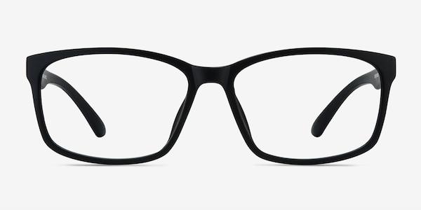 Boston Matte Black Plastic Eyeglass Frames