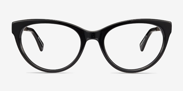 Her Black Acetate-metal Eyeglass Frames