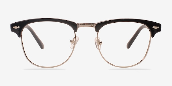 Coexist Black/Silver Plastic-metal Eyeglass Frames