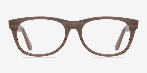 Panama Brown/Striped Acetate Eyeglass Frames
