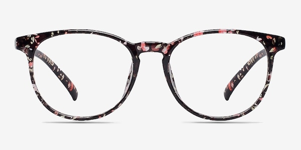 Chilling Red/Floral Plastic Eyeglass Frames