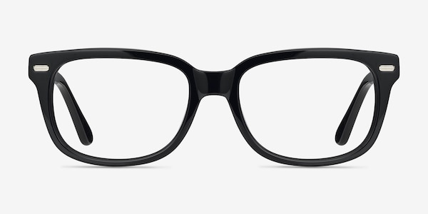 Little John Black Acetate Eyeglass Frames