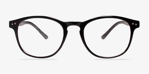 Instant Crush Clear/Black Plastic Eyeglass Frames