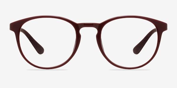Muse Dark Red Plastic Eyeglass Frames
