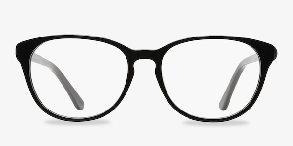 Mars Black Acetate Eyeglass Frames