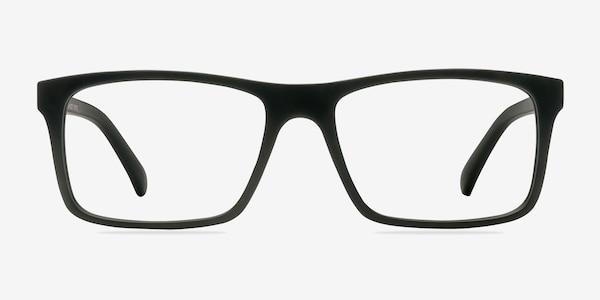 Persian Matte Black Plastic Eyeglass Frames