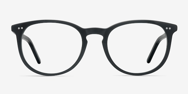 Aura Jet Black Acetate Eyeglass Frames