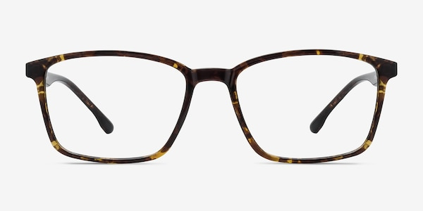 Northern Golden Tortoise Plastic Eyeglass Frames