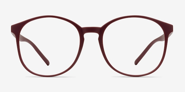 Days Matte Red Plastic Eyeglass Frames
