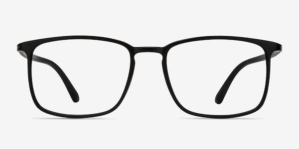 Structure Black Plastic Eyeglass Frames