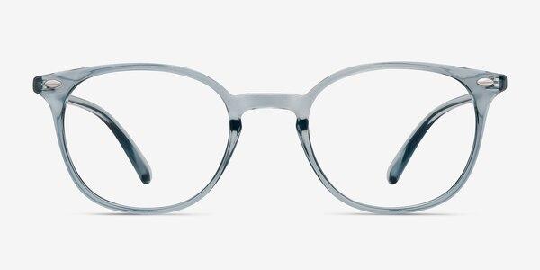 Hubris Clear Blue Plastic Eyeglass Frames