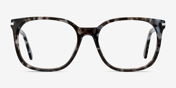 Absolutely Gray Floral Acetate Eyeglass Frames