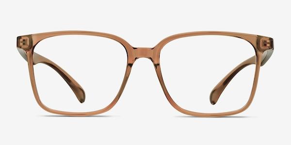 Blocks Clear Brown Plastic Eyeglass Frames