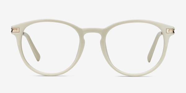 Daphne White Plastic-metal Eyeglass Frames