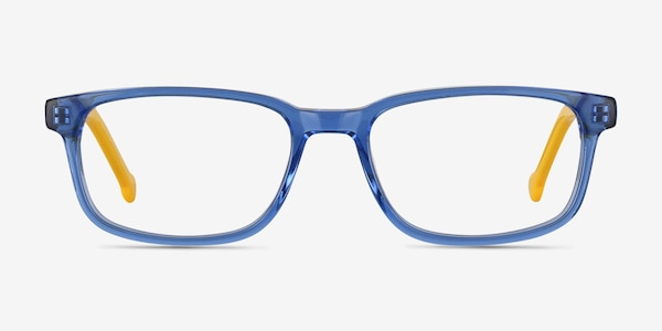 Totes Blue Clear Acetate Eyeglass Frames