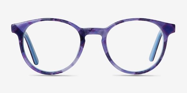 Lariat Purple Striped Acétate Montures de Lunette de vue