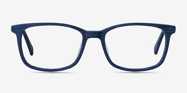 Botanist Navy Striped Acetate Eyeglass Frames
