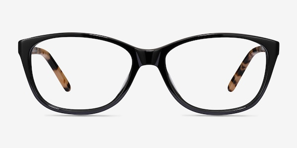 Masque Black Acetate Eyeglass Frames