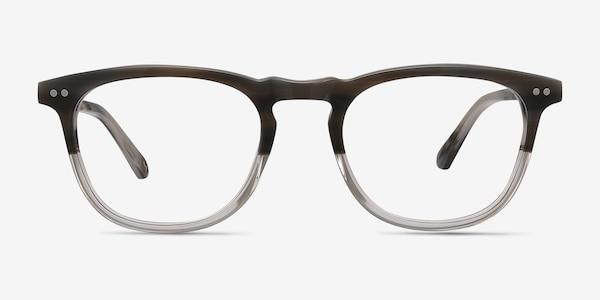 Illusion Striped Clear Acétate Montures de lunettes de vue