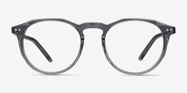 Planete Gray Clear  Acetate Eyeglass Frames
