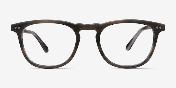 Illusion Gray Striped Acetate Eyeglass Frames