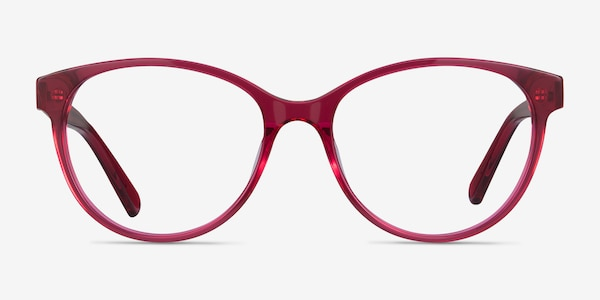 Laya Red Acetate Eyeglass Frames