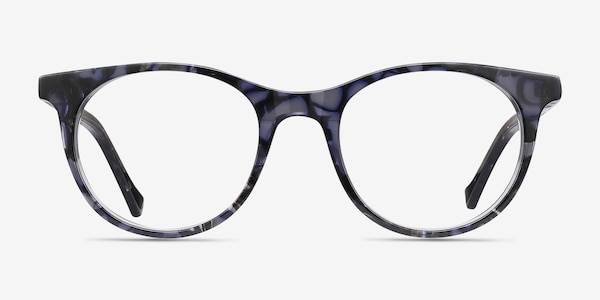 Delle Gray Floral Acetate Eyeglass Frames
