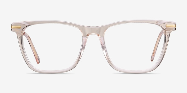 Sebastian Rose Gold Acetate-metal Eyeglass Frames