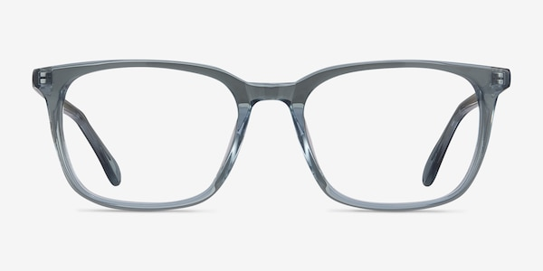 Etched Clear Blue Acetate Eyeglass Frames