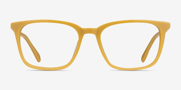 Etched Yellow Acetate Eyeglass Frames