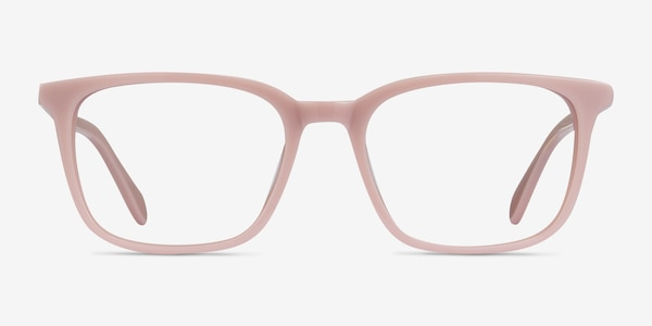 Etched Pink Acetate Eyeglass Frames