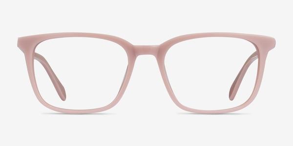 Etched Pink Acetate Eyeglass Frames