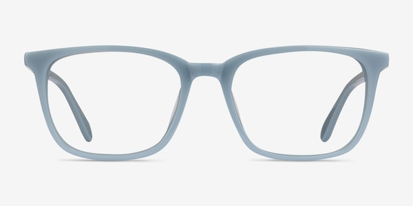 Etched Blue Acetate Eyeglass Frames
