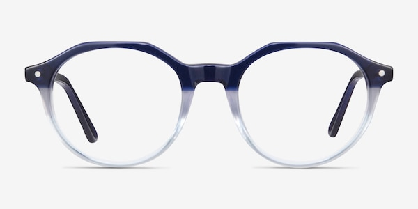 Moby Clear Blue Acetate Eyeglass Frames