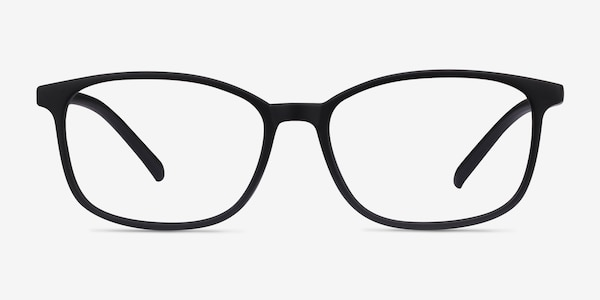 Median Black Plastic Eyeglass Frames