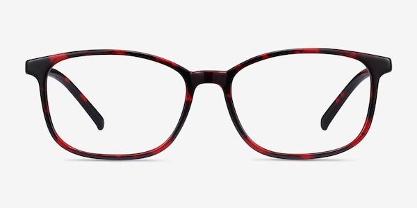 Median Red Floral Plastic Eyeglass Frames