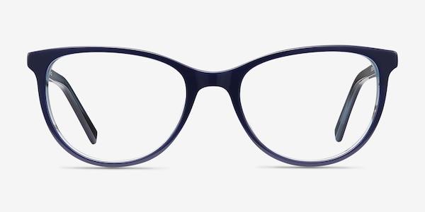 Sphinx Blue Striped Acetate Eyeglass Frames