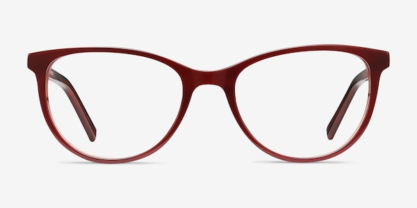 Sphinx Red Striped Acetate Eyeglass Frames