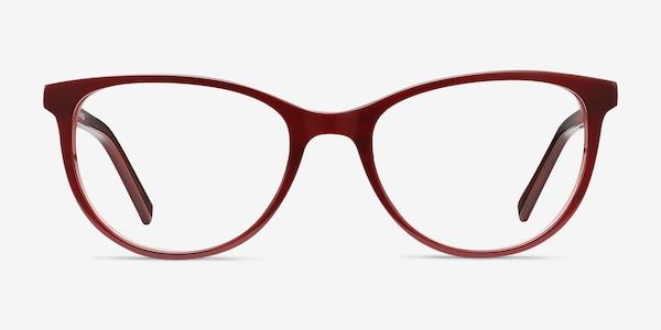 Sphinx Red Striped Acétate Montures de lunettes de vue