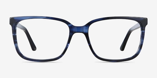 Formula Blue Striped Acetate Eyeglass Frames