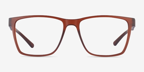 Spencer Marron Plastique Montures de Lunette de vue
