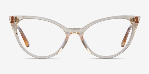 Quartet Clear Yellow Acetate Eyeglass Frames