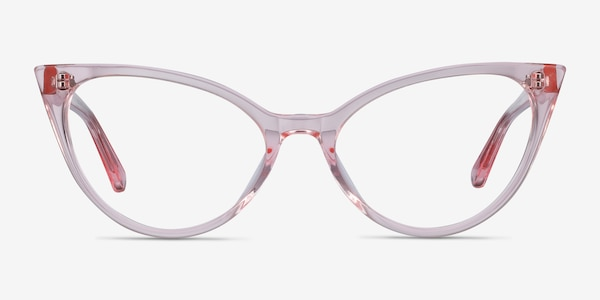 Quartet Clear Pink Acetate Eyeglass Frames