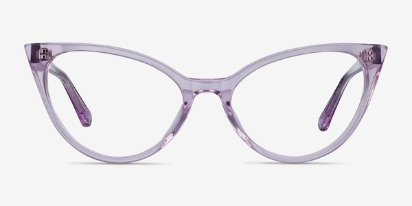 Quartet Clear Purple Acetate Eyeglass Frames